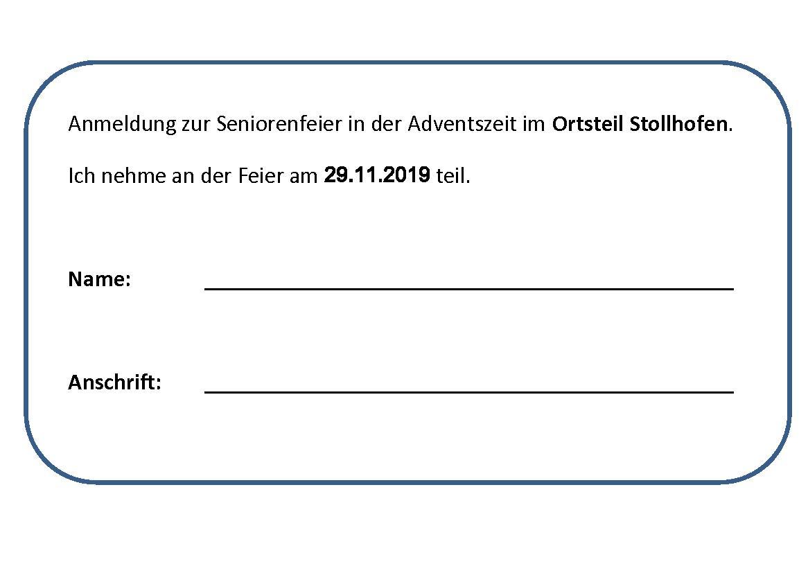Anmeldung Seniorenfeier Stollhofen 2019