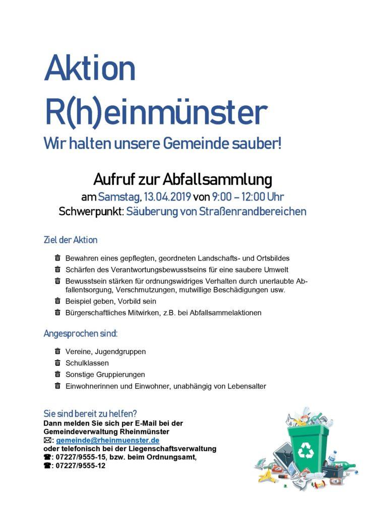 Aktion R(h)einmünster - wir halten unsere Gemeinde sauber
