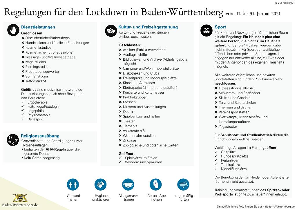 Coronavirus Baden Württemberg Verordnung